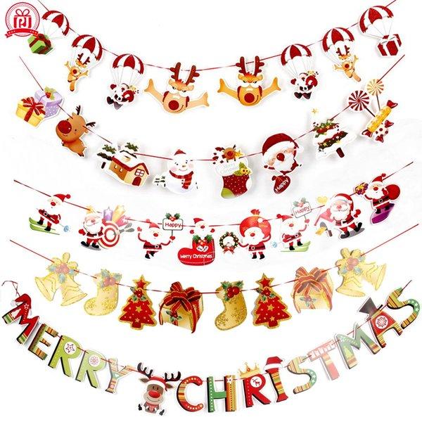 Frohe Weihnachten Anhänger.Großhandel Banner Wandbehänge Weihnachtsschmuck Clearance Ornamente Anhänger Weihnachten Ornamente Frohe Weihnachten Dekorationen Indoor Für