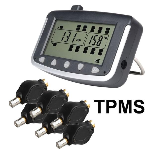 Sistema de monitoreo de la presión de los neumáticos TPMS del coche con 6 piezas Sensores externos del camión Remolque, RV, autobús, coche de pasajeros en miniatura