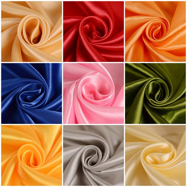 Satin fabric silk cloth 150*100cm Handmade DIY for box lining home dress curtain wedding party decoration sewing background