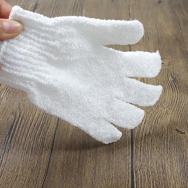 2018 hot sell Exfoliating Spa Bath Gloves nylon Brush Scrub Shower Gloves Scrubber