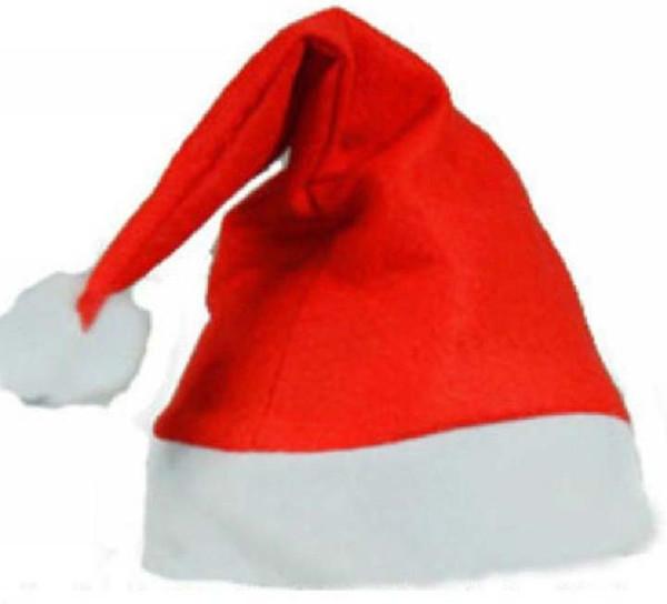Santa Claus Hat Children Kids cap Men Women Adults Christmas Hats Non Woven Xmas Decor Fancy Dress Props Party Supplies 600 Pieces/Lot