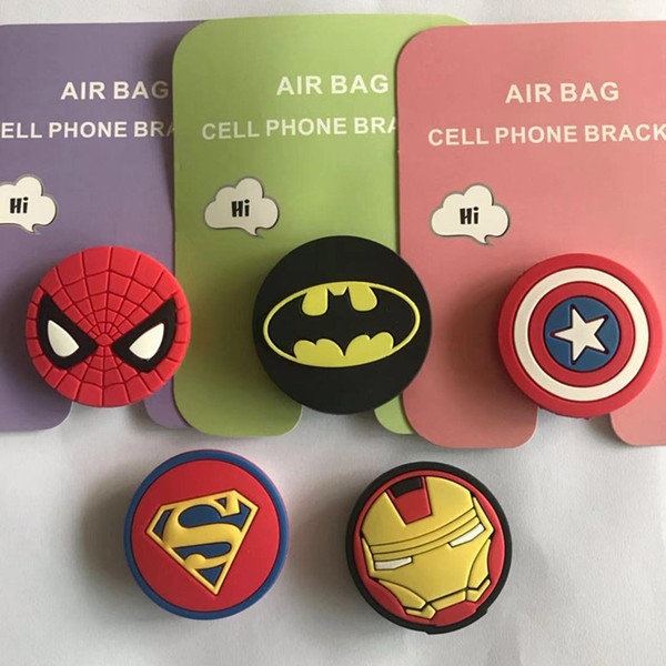 Silicone Cartoon Holders Expanding Holder Stand Grip Clip Ring for iPhone X 8 Samsung Mobile Phones Air Bag Cell Phone Bracket Free DHL