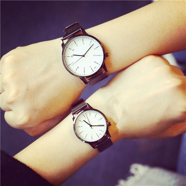 2016 nuovo stile coreano moda semplice Candy Colorati amanti orologio limone lusso donne orologio da tavolo da tavolo coppia hodinky