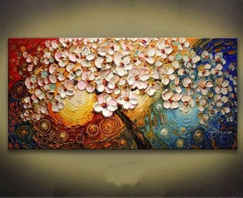 Painting By Numbers Handmade One Piece Colorful Modern Flower Oil Painting Beautiful Palee Fashion Wall Canvas Prints Picture