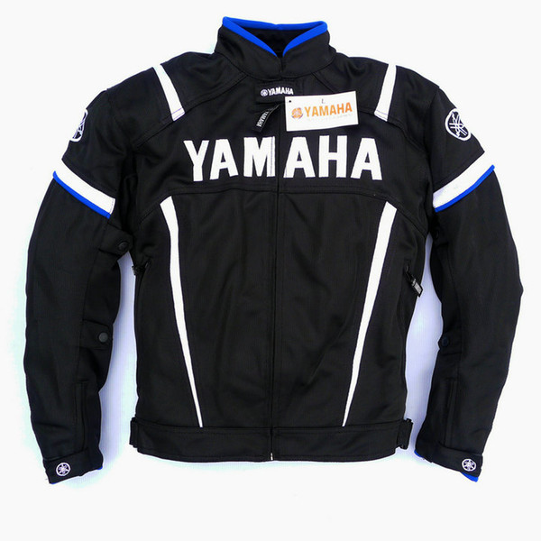 best selling 2017 Summer Motorcycle Moto GP Jacket With Protector For YAMAHA M1 Racing Team Motocross Clothing Black Blue