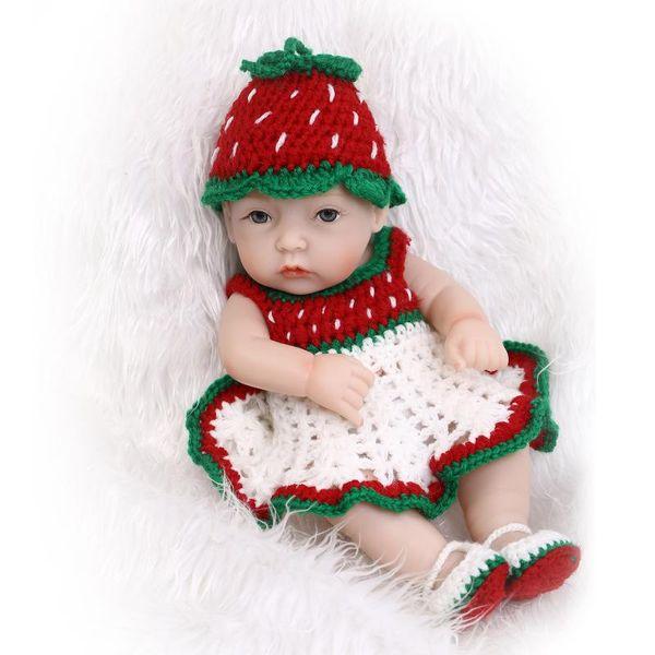 "11"" Handmade Reborn Baby Doll boy Newborn Lifelike Full Body Silicone Vinyl gift"