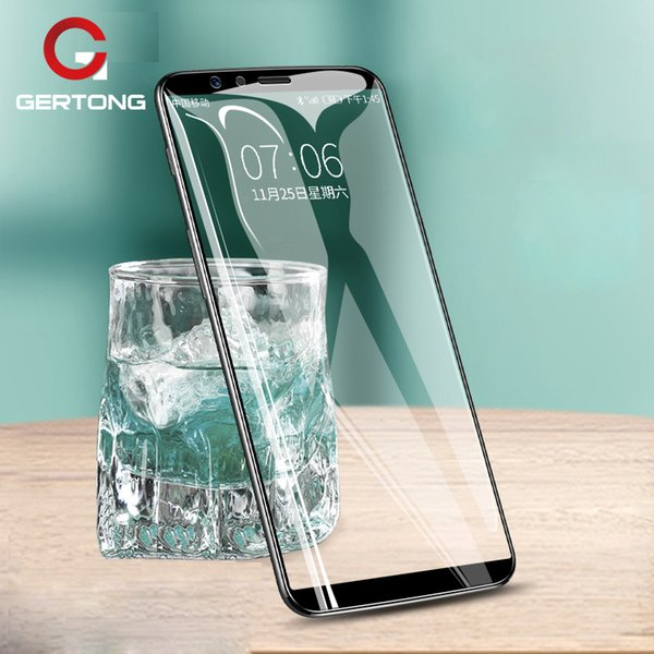 GerTong 9H 5D Tempered Glass For Oneplus 6 5T 5 Curved Full Cover Protection Glass Film For One Plus 6 5 5T Screen Protector