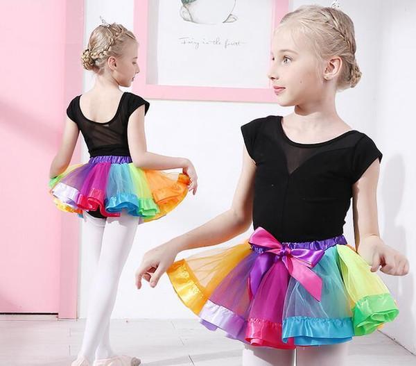 New Girls Kids Pettiskirt Tutu Skirts Holiday Party Ballet Dance Princess Dress