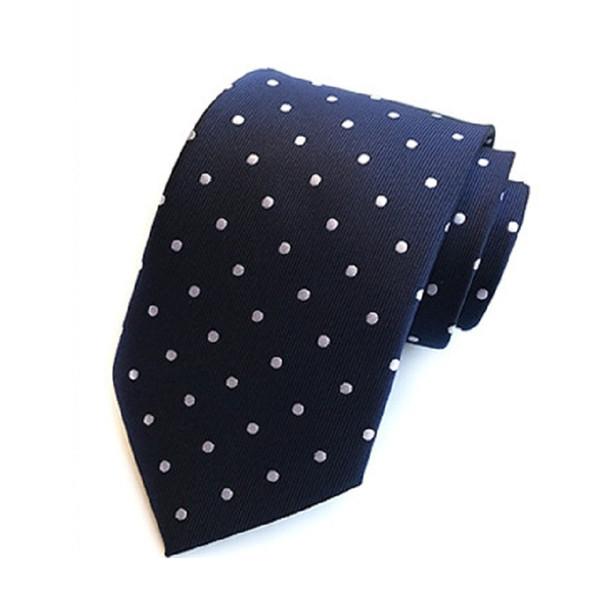 Erkekler için 8 cm kravat nokta polyester bağları erkek kravat iş boyunbağı ascot gömlek aksesuarları kırmızı mavi