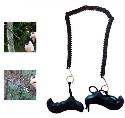 Camping Hiking Emergency Survival Hand Tool Gear Pocket Portable Chain Saw ChainSaw Camping Logging Saws Plastic Rubber Bone LF016