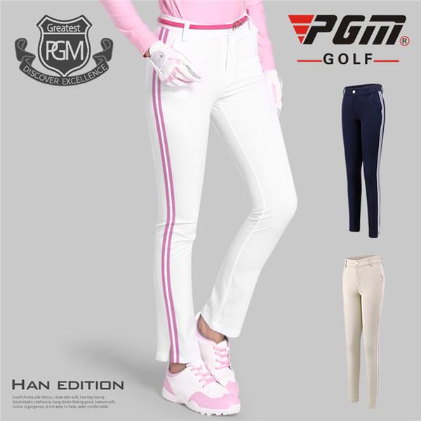PGM Calças De Golfe de Alta Elástica Macia Magro Calças para as mulheres Sportswear Golfe Lady Respirável Calças