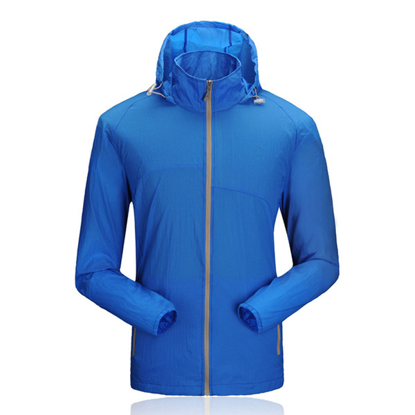 Corrida ao ar livre dos homens Proteção Solar Fino Ultra-Light Jacket Quick Dry Respirável Verão Outerwear Roupas Esportivas Para Homens