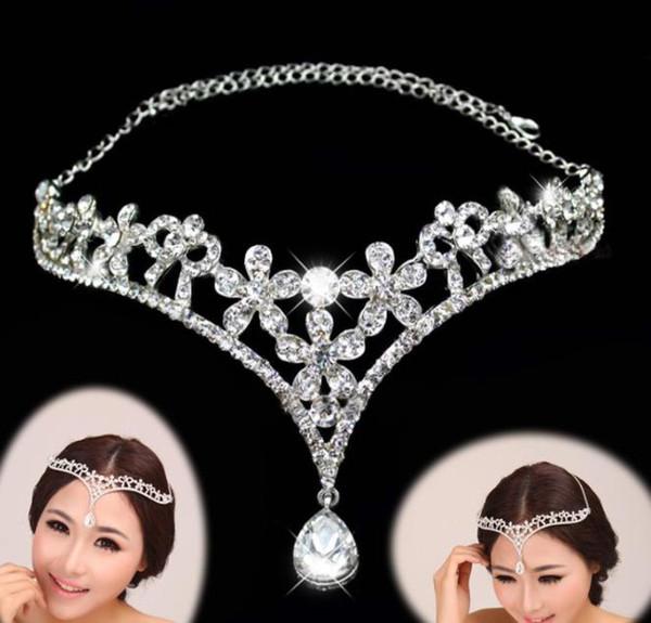 2019 Korean Brides Forehead Eyebrows Pendant Diamond Brides