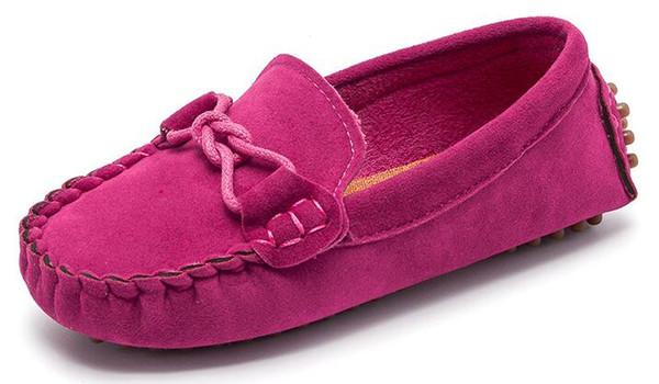 Größe 21-35 Baby Kleinkind Schuhe Neue Frühling Sommer Kinder Weiche PU Leder Freizeitschuhe Jungen Müßiggänger Mädchen Mokassins Schuhe