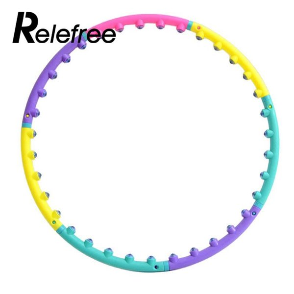 Fitness Lightweight Magnet Hula Hoop Detachable Ring Tube Circle for Waist Slimming Crossfit Health Body Building Equipment
