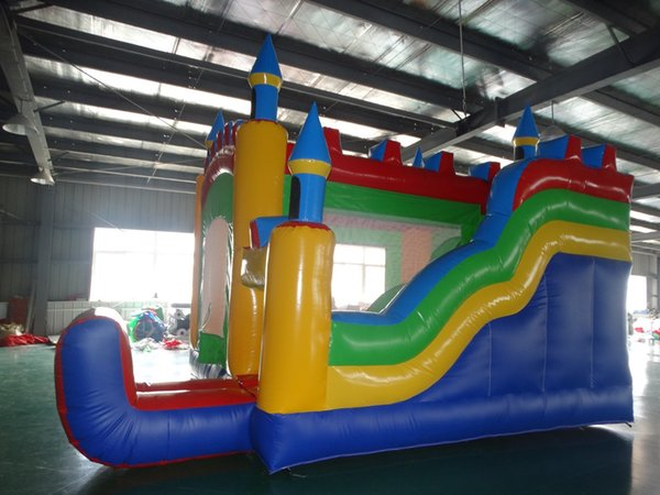 2018 high quality inflatable bounce combo mini inflatable bouncer with slide for sale