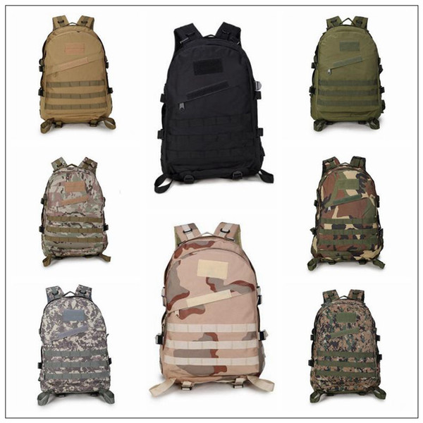 13 Colors Outdoor Tactical Backpack Unisex Trekking Bag Sports Travel Rucksacks Camping Hiking 3D Camouflage Bag CCA9351 10pcs