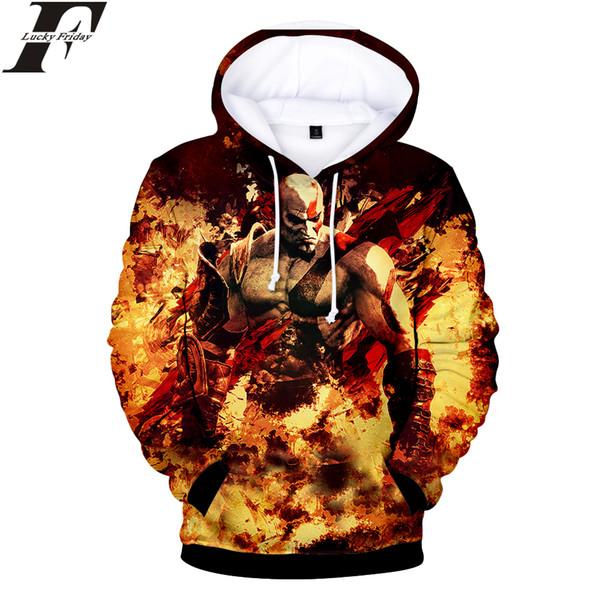 2018 God of War 3D coon Hoodies Sweatshirt Game Anime Women/Men Hoodie Sweatshirt Casual Clothes Plus Size