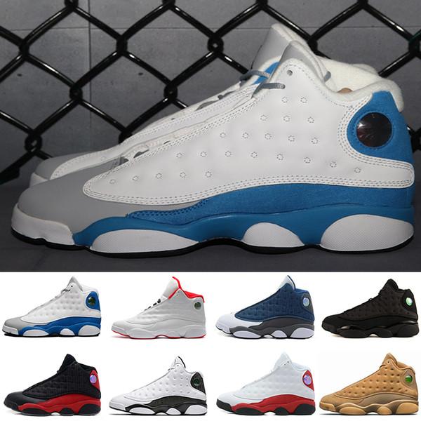 Ücretsiz nakliye Ucuz Yeni 13 Basketbol Ayakkabı Erkek Sneakers GS Bordo Marka Adı Erkekler 13s Siyah Mavi Beyaz Spor ABD 8-13 Ayakkabı