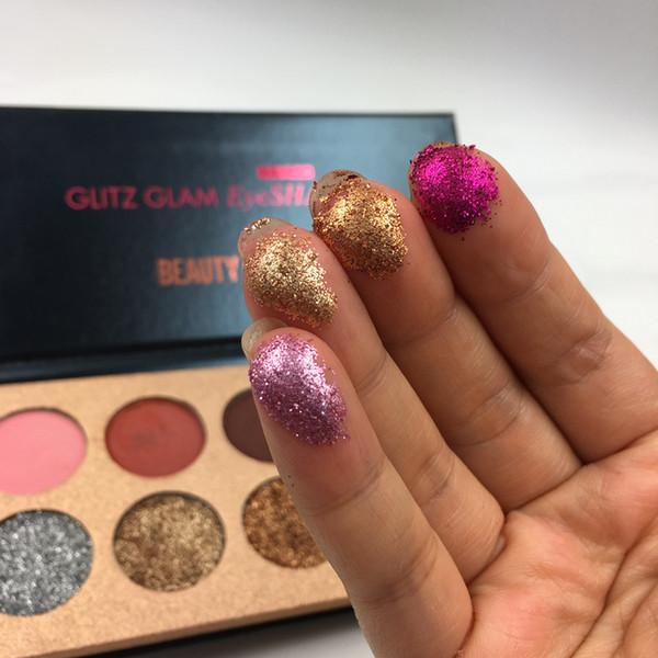 Pul Pırıltılı Göz Farı Paleti Vurgulayıcı Güzellik Sırlı Glitter Mat Göz Farı Paleti 10 Renkler Makyaj Kozmetik Glitz Glam