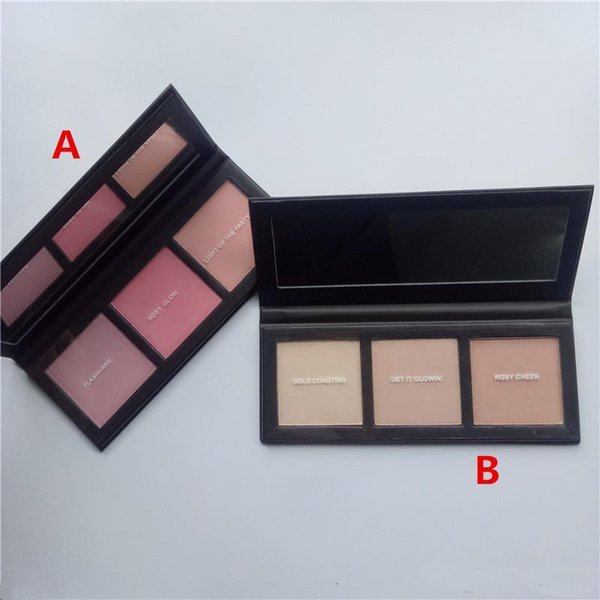 Stable Quality Hyper Real Glow Palette FLASH+AVE GET IT GLOWIN 3 Colors Highlighter Blush Palette Free Shipping
