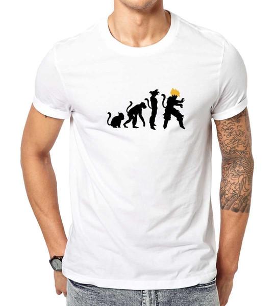 Evolution Dragon Ball Goku shirt100% Camisetas de algodón Ropa de marca Tops Camisetas