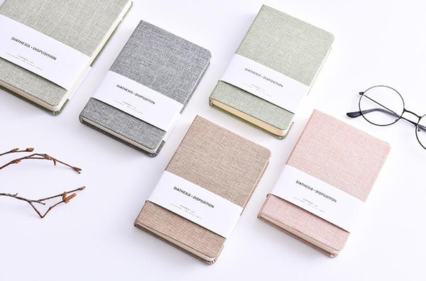 Taccuini con copertina rigida in tessuto con quaderni a giornale in quaderno a 128 fogli