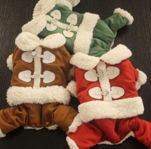 Hundebekleidung, Herbst und Winter, neue Art doppelte Stärke, die warme Kleidung, vier beinige Hosen verdickt.