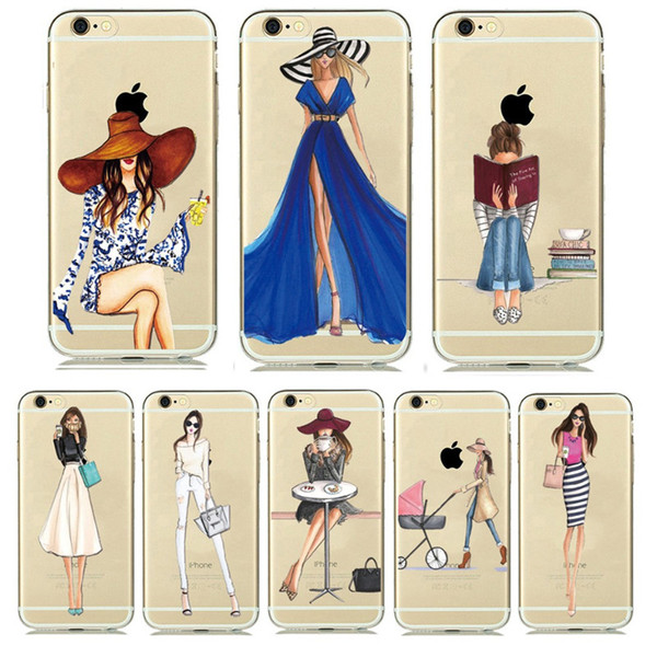Fashion Hot Case Cover For iphone x 8 7plus 6 6plus 5 Samsung Huawei xiaomi Ultra Soft TPU Transparent Printed Back Phone
