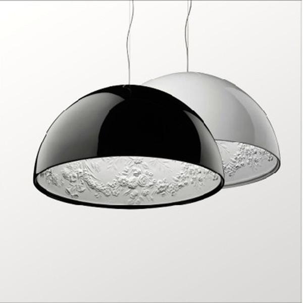Dia 40 cm / 60 cm Moderne BlackWhite Sky Garten Kronleuchter Anhänger Lampen Schlafzimmer Lichter Dekoration Lampe für Schlafzimmer Wohnzimmer