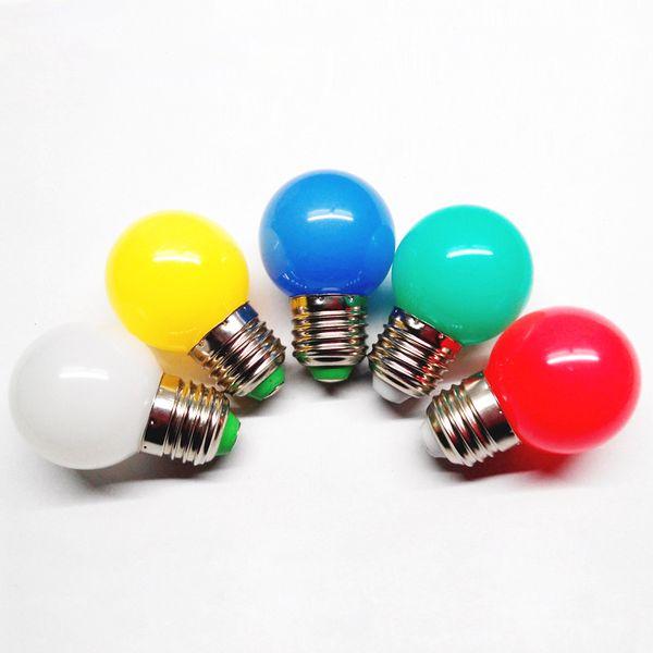 Lampada LED Lamp Colorful Bombillas E27 G45 220V LED Light SMD 2835Led Bulbs Colorful bulb Light flashlight LED