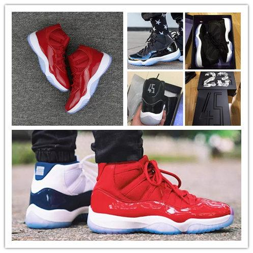 b2415046ad56e0 Discount Space Jam 45 Win Like 96 98 gym red 11s Midnight Navy 11  Basketball Shoes