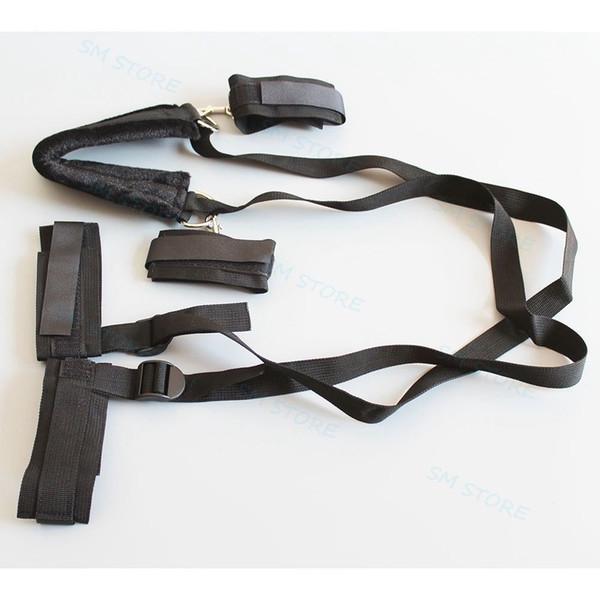 Collar Wristcuffs Ankle Cuffs Set Position Pillow Fetish Sex Aid MultiPlay Ways #R56