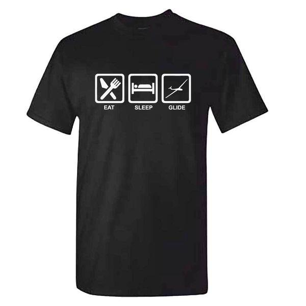 Mens Eat Sleep GLIDE - Glider Gliding Pilot Flyer Flying Funny T Shirt T-Shirt Cool Casual pride t shirt men Unisex New Fashion tshirt