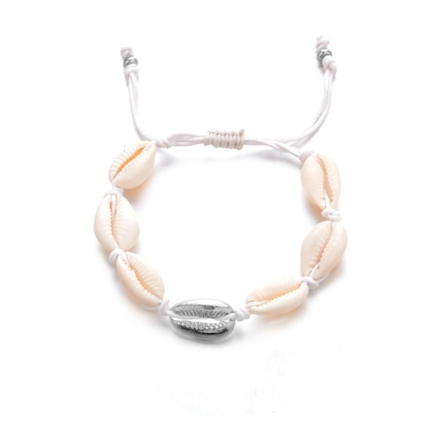 Korean Sweet Marine Dolphin Shell Flower Pendant Bracelet Fashion Crystal Beads Bracelets for Women Beach Holiday Charm Jewelry