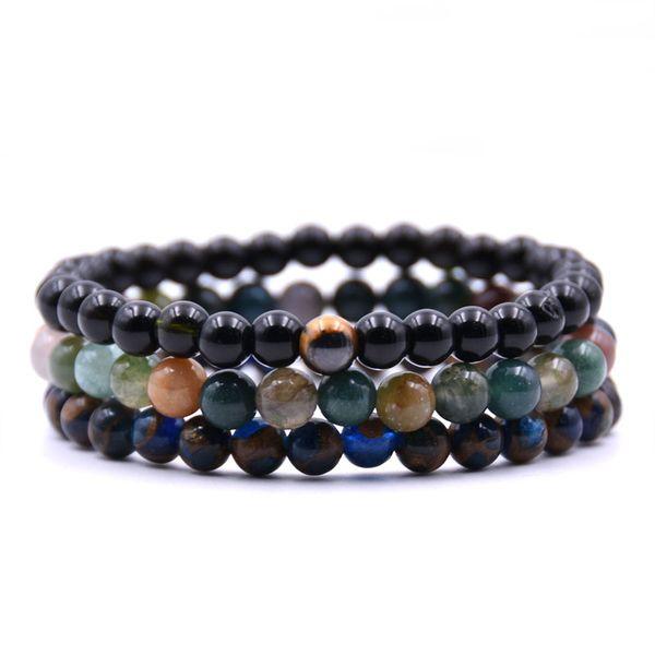 2018 New fashion Summer Style Natural Stone Beads Bracelet Women Men multiple colour Beaded Stretch Bracelets Bangles