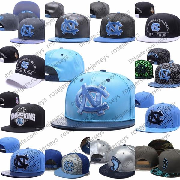 NCAA North Carolina Tar Heels Caps 2019 New College Adjustable Hats All University Snapback Gray Black Light Blue White UNC Free shipping
