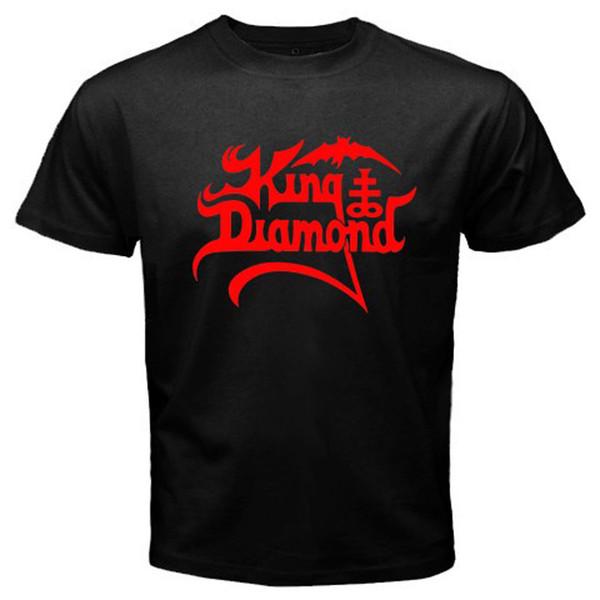 New King Diamond Logo Heavy Metal Musician Men's Black T Shirt Size S To 3xl T Shirt Casual Short Sleeve For Men Clothing Summer