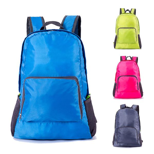 Prezzo a buon mercato 2018 Sacchetti esterni caldi portatili zaini impermeabili borse da viaggio pieghevoli di alta qualità multi colori studenti sacchetto di scuola