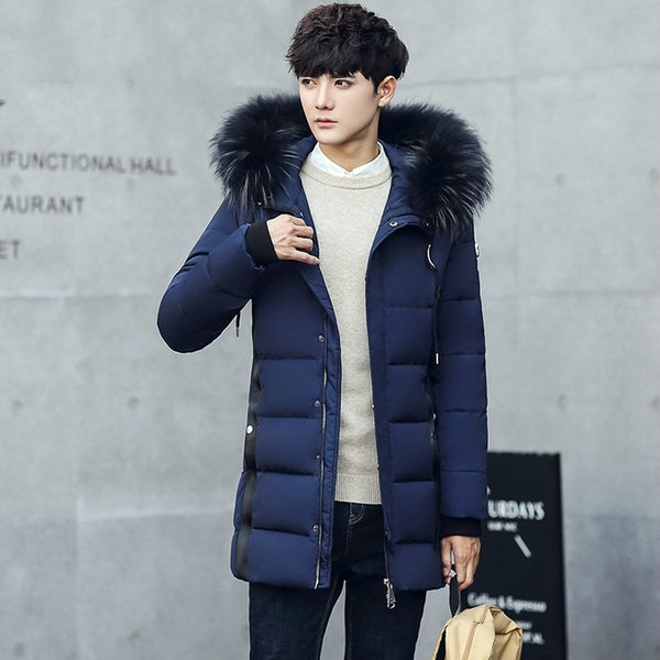 Winter Jacket Men 2018 Parka Men Casual Hooded Down Coat Slim Fit Long Thick Parkas Duck Down Jacket Casaco Masculino ZT503