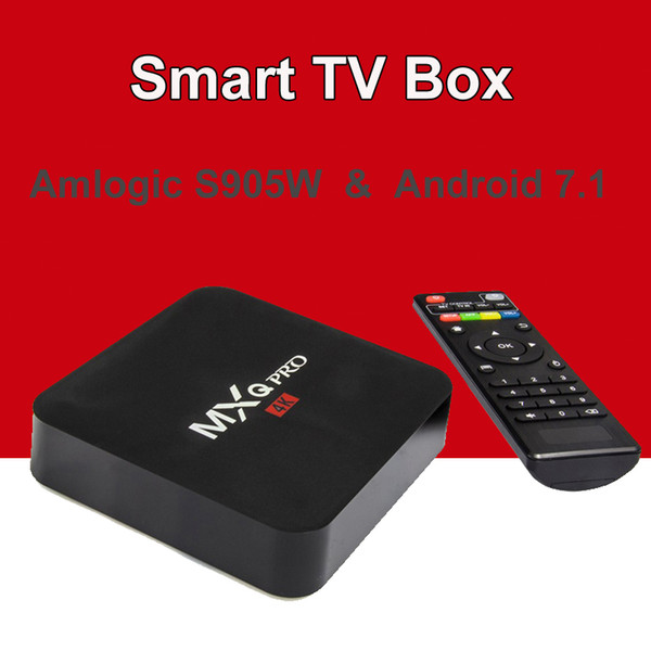 Android 7.1 TV Box MXQ Pro Amlogic S905W Cuatro núcleos 4k HD 64bit Smart Mini PC 1G 8G Wifi 4K H.265 Google Smart Media Player