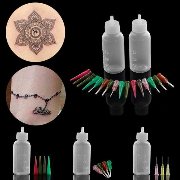 1 Satz Mode Henna Paste Flasche Düsenspitzen Kit Applikator Zeichnung für Body Art Paint Making Tool Set Tattoo Zubehör