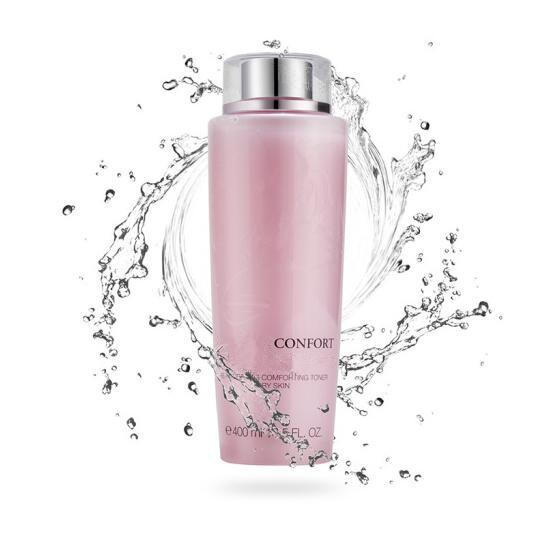 best selling 02 New Coming TONIQUE Confort Re-Hydrating Comforting Pink TONER for dry skin deep Moisturizing 400ml pcs free shopping