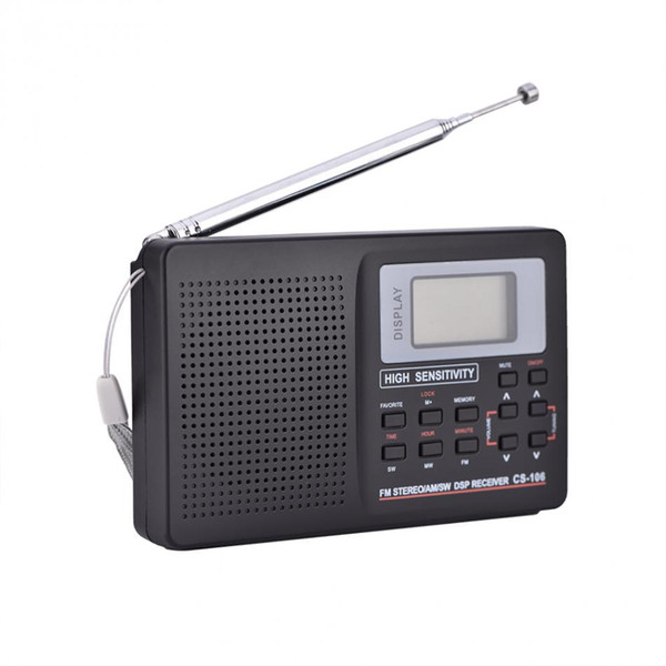 VBESTLIFE Portable FM/AM/SW/LW/TV Sound Full Band Receiver Portable Audio & Video Radio Alarm Clock Only for US Canada Mexico