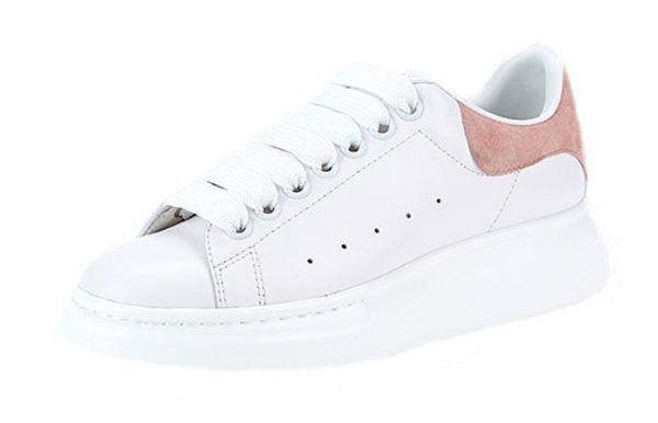 2018 das mulheres dos homens de moda de luxo de couro branco preto de volta sapatos de plataforma plana sapatos casuais senhora preto rosa de ouro mulheres brancas tênis