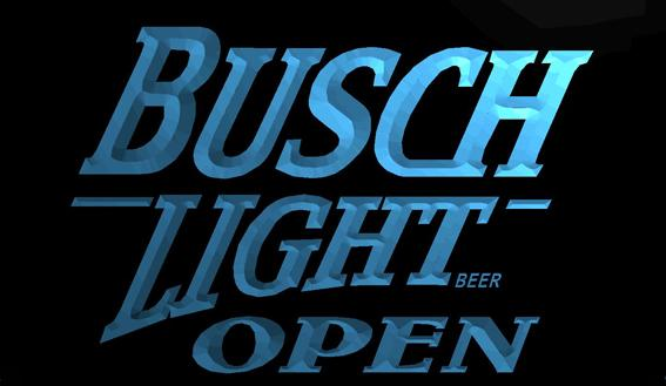 LS711-b- Busch Light Beer OPEN Bar 3D LED Neon Light Sign Customize on Demand 8 colors to choose