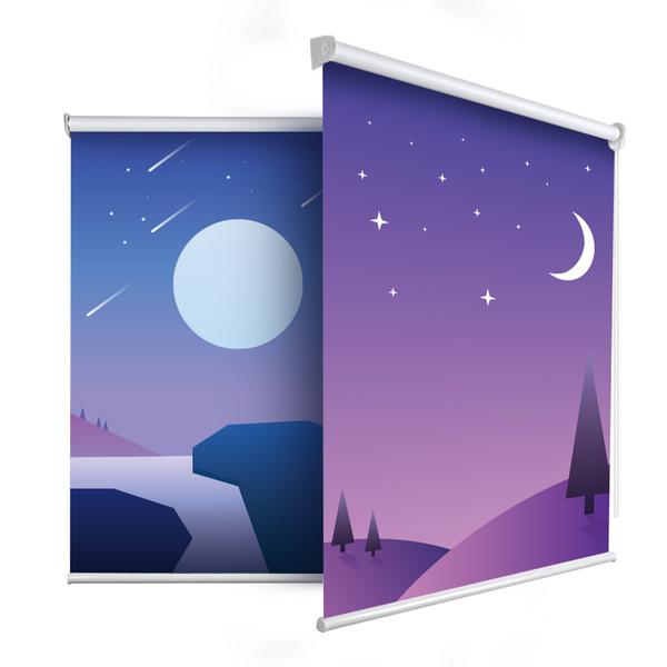 Tende A Rullo Con Stampa Personalizzata.Acquista Casaya Romantic Star Moon Tende A Rullo Stampate Personalizzazione Personalizzata Stampa Cartoon Tende Ombrellone Cameretta Bambini A 65 07