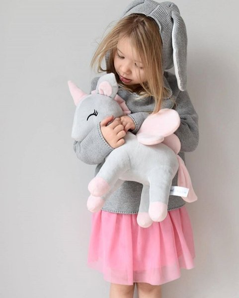 Baby Cute Unicorn Pillow Toys Children Room Decoration Soft Stuffed Plush Pony Doll Kids Birthday Gifts Photo Props 35cm
