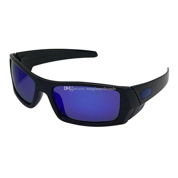 O Gas can Luxury Design Sunglasses 12-891 Fashion Sports Brand Eyewear Bright Black/ Blue Mercury IRIDIUM PolarizedLens Free Shipping OK59
