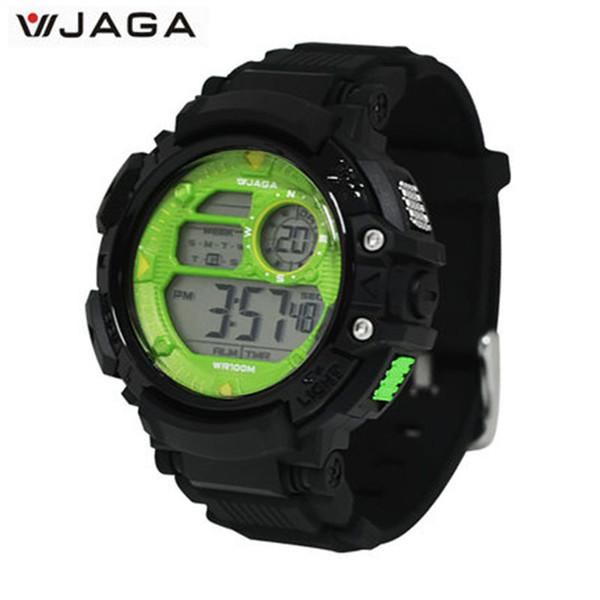 JAGA hommes montres sport multifonctions électronique montres pour hommes étanche plongée montre Jereo Ny Lehilahy M1086